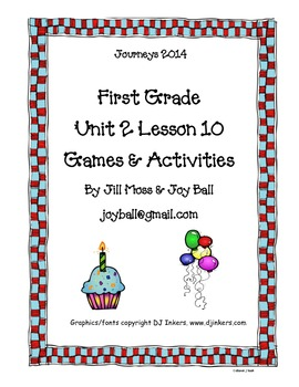 Journeys 2014 First Grade Unit 2 Lesson 10: A Cupcake Party