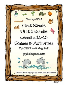 Journeys 2014 First Grade Unit 3 Bundle