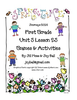 Journeys 2014 First Grade Unit 5 Lesson 25: The New Friend