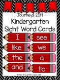Journeys 2014 Kindergarten Sight Word Cards- Red