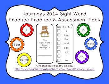 Journeys 2014 Kindergarten Sight Words Practice & Assessment Pack