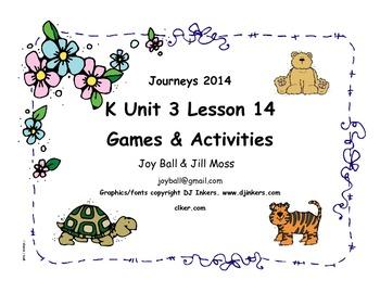 Journeys 2014 Kindergarten Unit 3 Lesson 14: Turtle Splash!
