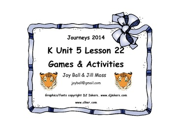 Journeys 2014 Kindergarten Unit 5 Lesson 22: Leo the Late Bloomer