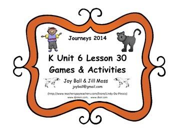 Journeys 2014 Kindergarten Unit 6 Lesson 30: Miss Binderga