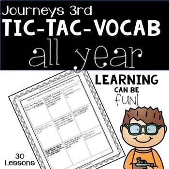 Journeys Third Grade Tic-Tac-Vocabulary BUNDLE