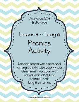 Journeys 2014 Third Grade, Unit 1, Lesson 4 Phonics Activity
