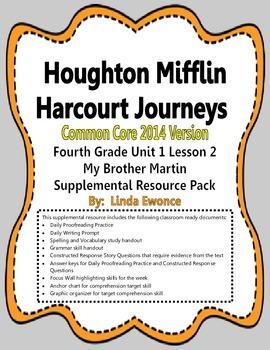 Journeys 2014 Version Fourth Grade Unit 1 Lesson 2 - My Br