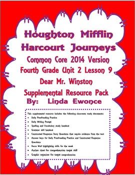 Journeys 2014 Version Fourth Grade Unit 2 Lesson 9 - Dear