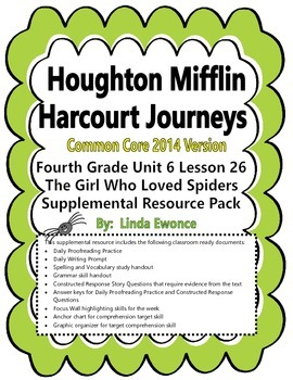 Journeys 2014 Version Fourth Grade Unit 6 Lesson 26 - The