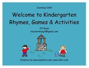 Journeys 2014 Welcome to Kindergarten Two Week Unit