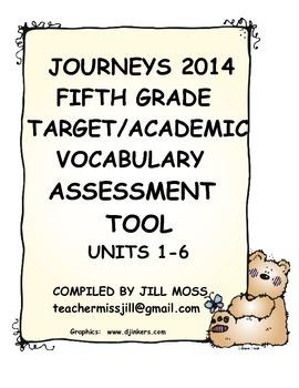 Journeys 2014 Fifth Grade Target/Academic Vocabulary Asses