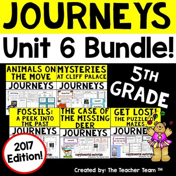 Journeys 2017 5th Grade Unit 6 Supplemental Materials