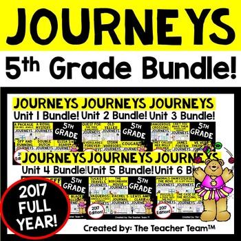 Journeys 2017 5th Grade Units 1-6 Supplemental Materials F