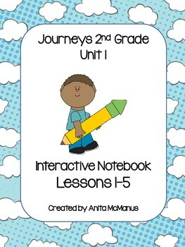Journeys 2nd Grade Vocabulary Interactive Notebook-Unit 1