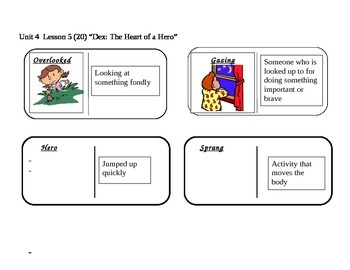 "Journeys 2nd Grade Reading Series Vocabulary Dominoes ""Dex"