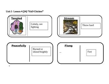 "Journeys 2nd Grade Reading Series Vocabulary Dominoes ""Hal"