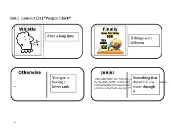"Journeys 2nd Grade Reading Series Vocabulary Dominoes ""Pen"