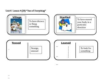 """Journeys 2nd Grade Reading Series Vocabulary Dominoes """"Two"""