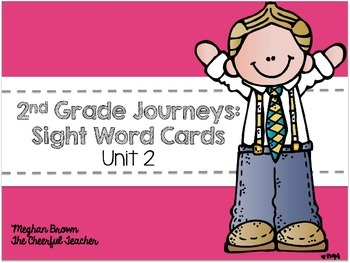 Journeys 2nd Grade Sight Word Cards Unit 2