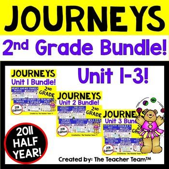 Journeys 2nd Grade Unit 1-2-3 Half Year Bundle Supplementa