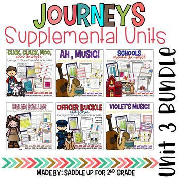 Journeys 2nd Grade Unit 3 Bundle Supplemental Activities