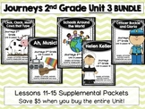 Journeys 2nd Grade Unit 3 Lessons 11-15 BUNDLE