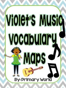 Journey's 2nd Grade Violet's Music - Vocabulary Maps