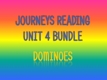 Journeys 2nd Unit 4 BUNDLE for Vocabulary Dominoes