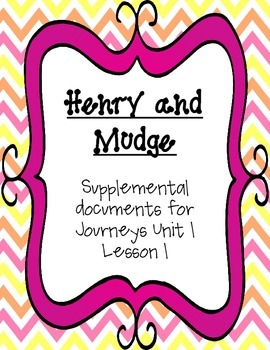 Journeys 2nd grade Henry and Mudge Supplemental
