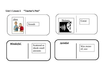 "Journeys 2nd grade reading series Vocabulary Dominoes ""Tea"