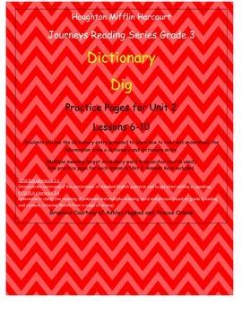 Journeys 3rd Grade Reading Series: Dictionary Skills Unit 2