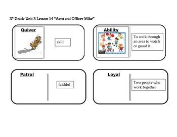 "Journeys 3rd Grade Reading Series Vocabulary Dominoes ""Aer"