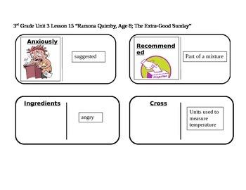 "Journeys 3rd Grade Reading Series Vocabulary Dominoes ""Ram"