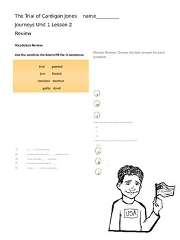 Journeys 3rd Grade Review Study Guide Unit 1: The Trial of