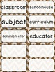 Journeys 3rd Grade Selection and Domain Vocab for Word Wal