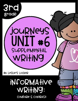 Journeys 3rd Grade Supplemental Writing Project for Unit 6