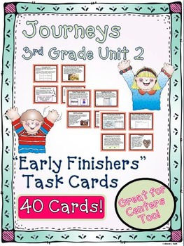 Journeys 3rd Grade Unit 2 Early Finishers Task Cards 2011