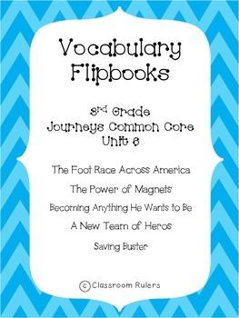 Journey's 3rd Grade Vocabulary Flip-books: Unit 6
