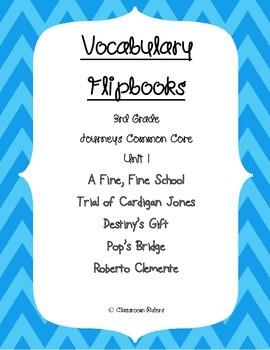 Journey's 3rd Grade Vocabulary Flipbooks: Unit 1
