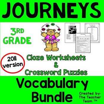 Journeys 3rd Grade Cloze Worksheet - Crossword Puzzle Bund