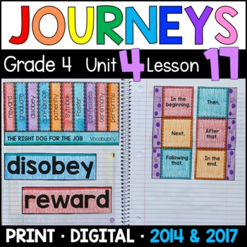 Journeys 4th Grade Lesson 17: Right Dog for the Job (Suppl