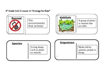 "Journeys 4th Grade Reading Series Vocabulary Dominoes ""Eco"