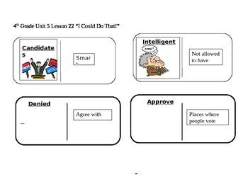 "Journeys 4th Grade Reading Series Vocabulary Dominoes ""I C"