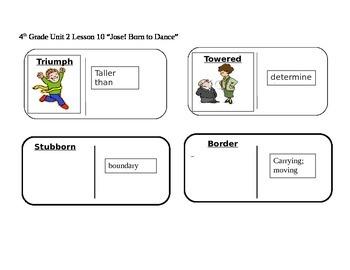 "Journeys 4th Grade Reading Series Vocabulary Dominoes ""Jos"