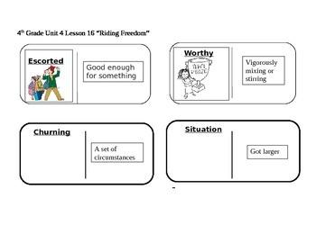 "Journeys 4th Grade Reading Series Vocabulary Dominoes ""Rid"