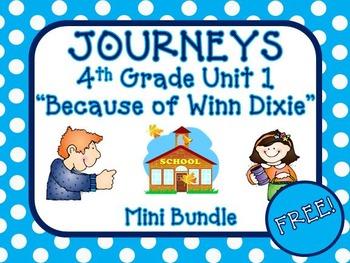 "Journeys Aligned 4th Grade Unit 1 ""Because of Winn Dixie"""