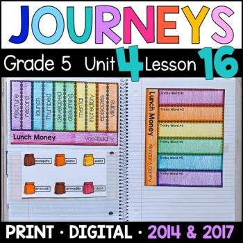 Journeys 5th Grade Lesson 16: Lunch Money (Supplemental &