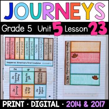 Journeys 5th Grade Lesson 23: Vaqueros (Supplemental & Int