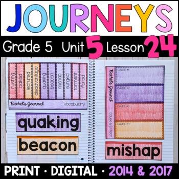 Journeys 5th Grade Lesson 24: Rachel's Journal Supplementa