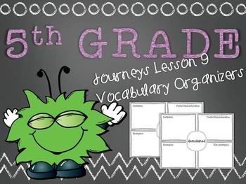 Journeys 5th Grade Unit 2 Lesson 9 Vocabulary Frayer Graph
